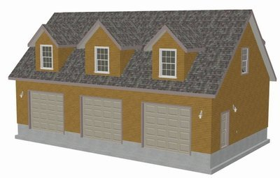 #G445 Plans, 48'x28' x 10' detached garage
