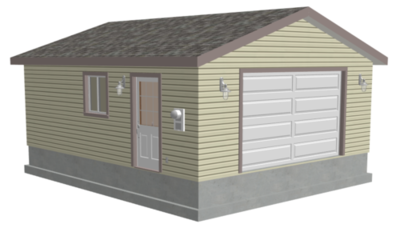 #g507 20 x 24 x 8 Garage Plans PDF and DWG CAD files
