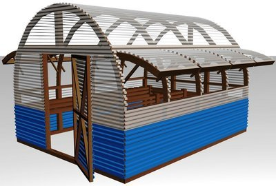 150 Sq ft 10' x 15' Wood Frame Green House Plans PDF and DWG