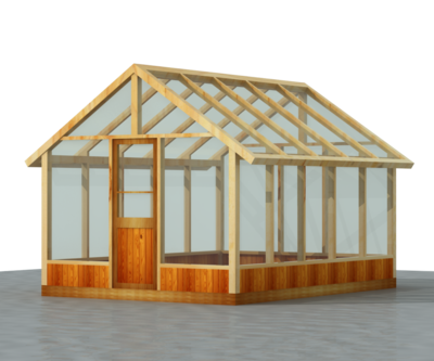 140 Sq ft 10' x 14' Wood Frame Green House Plans PDF