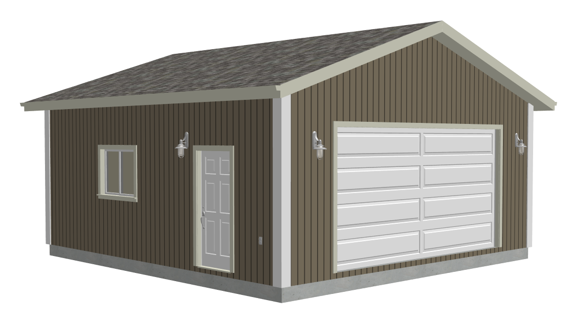 #g553 24 x 25 x 10 Garage Plans with PDF and DWG files