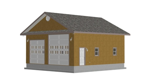 G358 30 x 32 x 13-6 RV Garage Plans Workshop with PDF and DWG Files