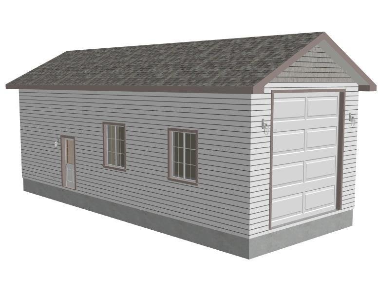 G546 18' x 45' x 16' Tall RV Garage Plans with both PDF and DWG