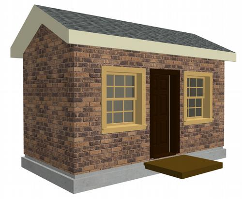 The 6 x 12 Brick Playhouse Plans