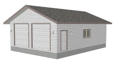 G387 26' x 36' x 10' Workshop Garage Plans Blueprints with PDF and DWG