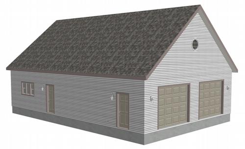 G478 Garage Plans 32 x 50 x 10 with attic storage