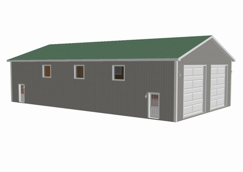 40' x 72' x 16' Garage Plan