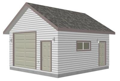 g447 Garage Plans 18' X 20' X 10' walls with PDF and DWG Files