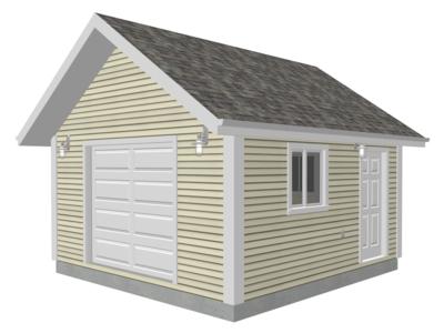 #G568 16 x 16 - 8' Garage Plan in PDF and DWG