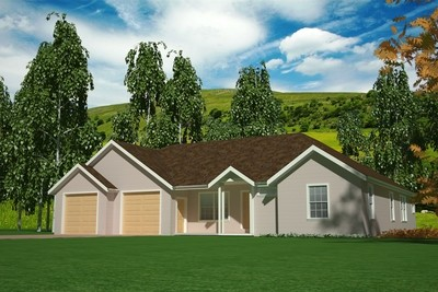 H101 3 bdrm 2 bath 1500 Sq foot Main House Plans in PDF and DWG