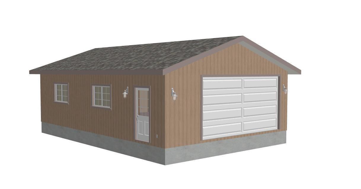 G251 24 x 36 - 9' Garage Plan with PDF and DWG files