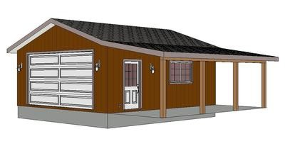 #G280 22x24 -9' with Porch