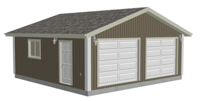 #g569 24 x 24 x 8 Garage plans with PDF and DWG
