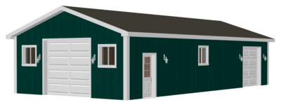 #G511 24 x 50 Pole Barn plans in PDF and DWG