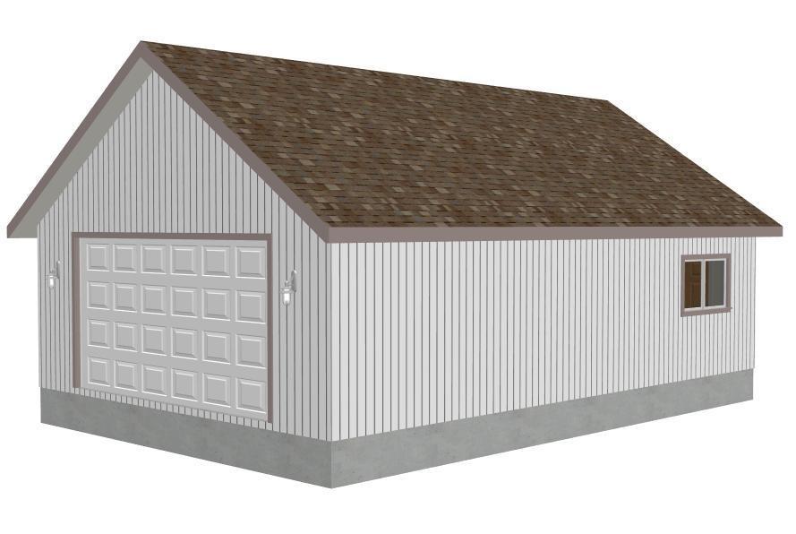 #G407 24' x 36' x 9' detached garage