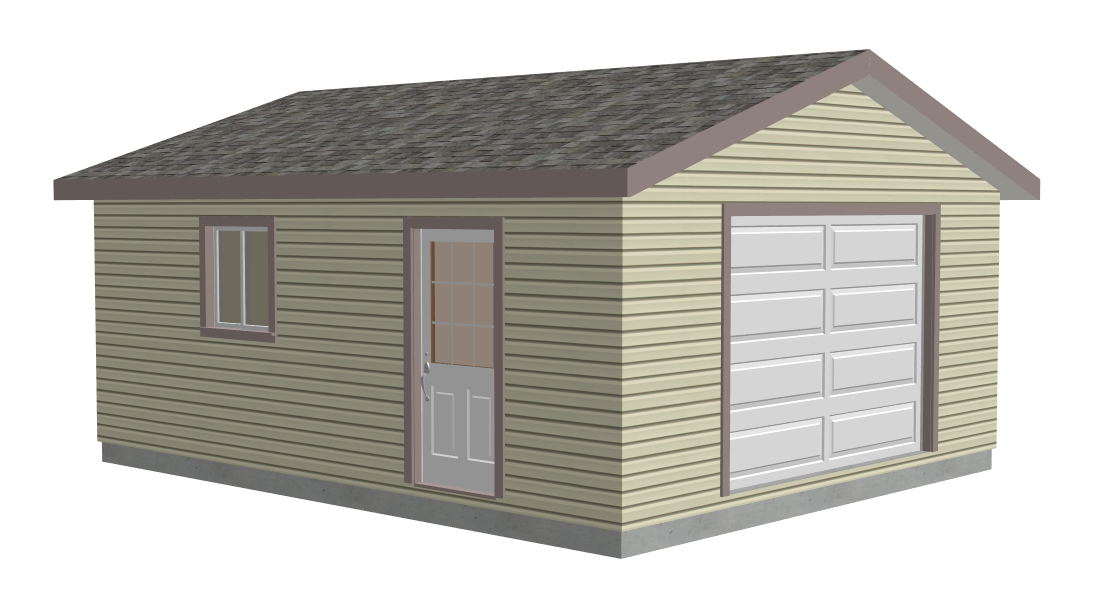 #g563 18 x 22 x 8 Garage Plans in PDF and DWG
