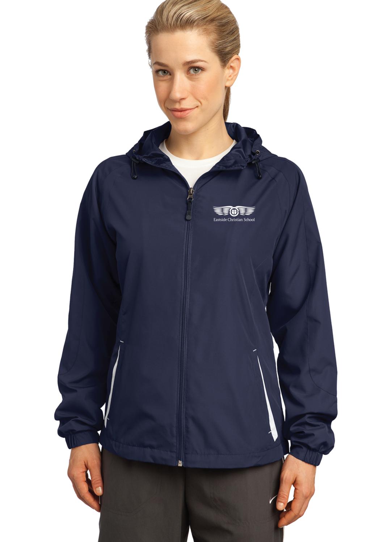 Sport-Tek® Ladies Hooded Raglan Jacket