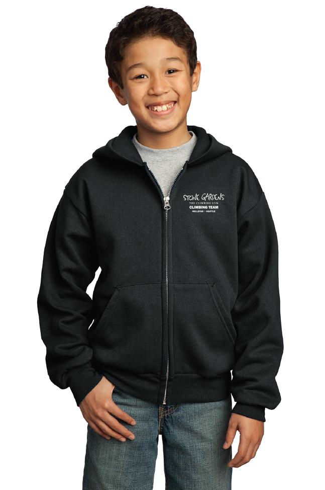 Youth Core Fleece Full-Zip Hooded Sweatshirt
