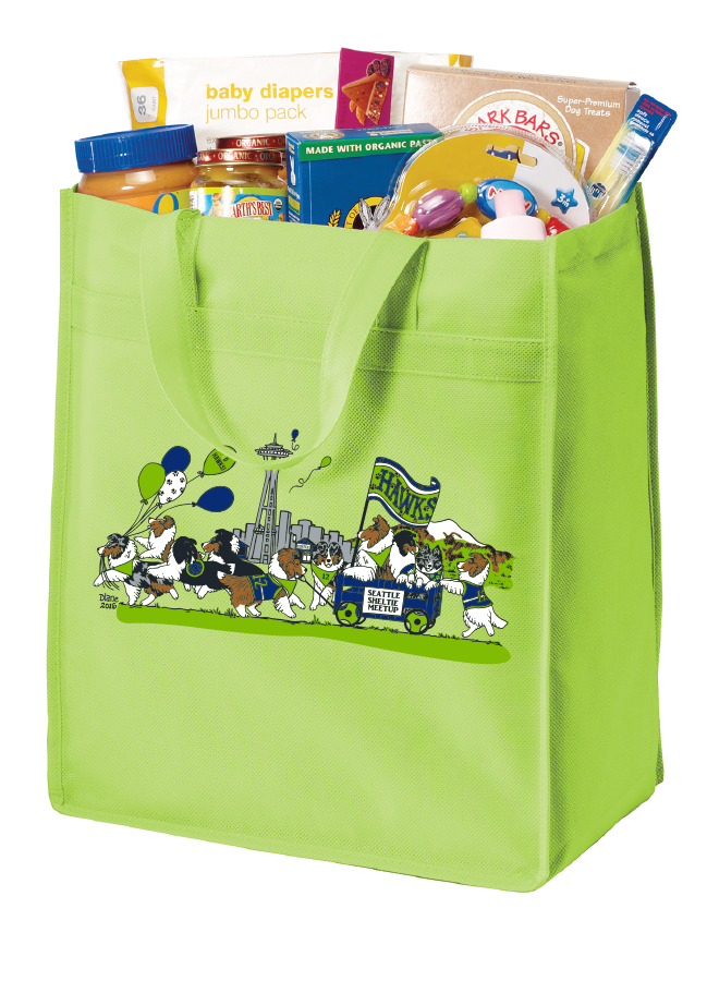 Standard Polypropylene Grocery Tote (Lime)