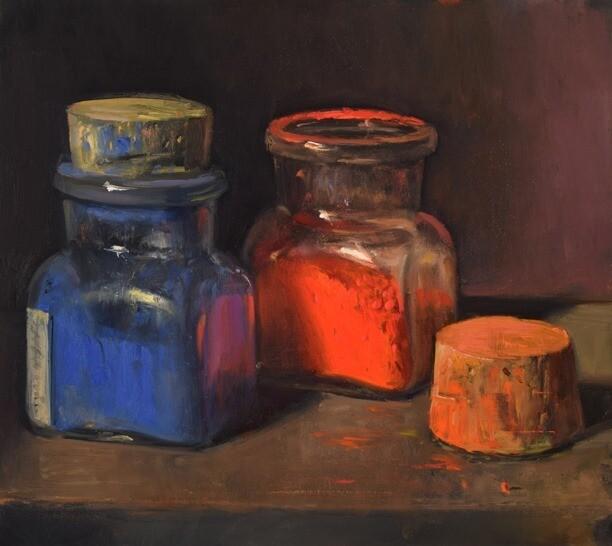 Cadmium Red, Cobalt Blue