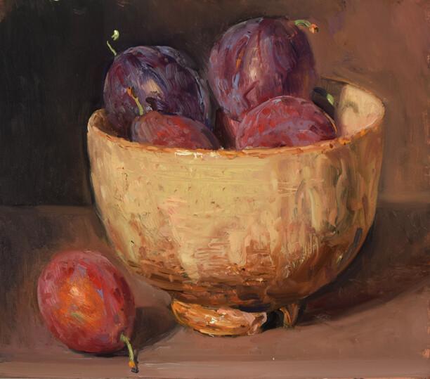 Plum Prunes in a Tea Bowl