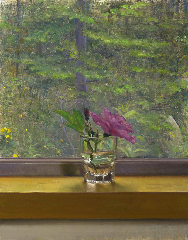 Pasture Rose on a Sill