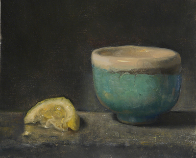 Tea Bowl and Lemon Wedge