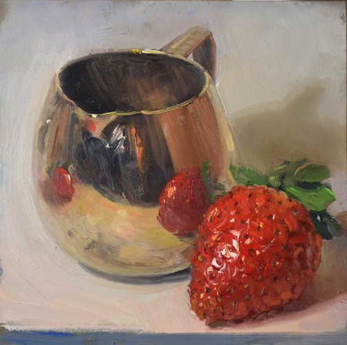 Creamer with Two Strawberries