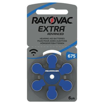 Rayovac 675 Blå - 30 batterier. Fritt levert