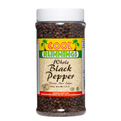 Cool Runnings Whole Black Pepper - 225g