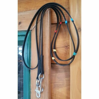 Top Reiter - Super-Grip Biothane Reins w/Coloured Stoppers