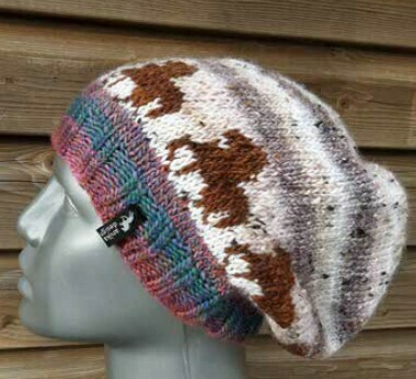 Hand Knitted Hat B17 - Icelandic Horse