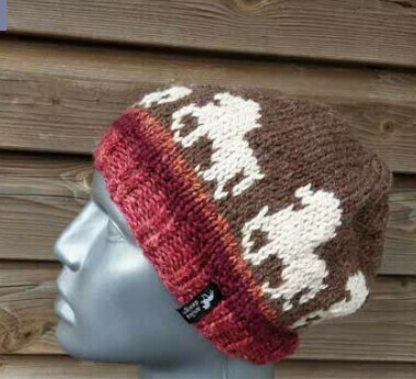 Hand Knitted Hat B31 - Icelandic Horse