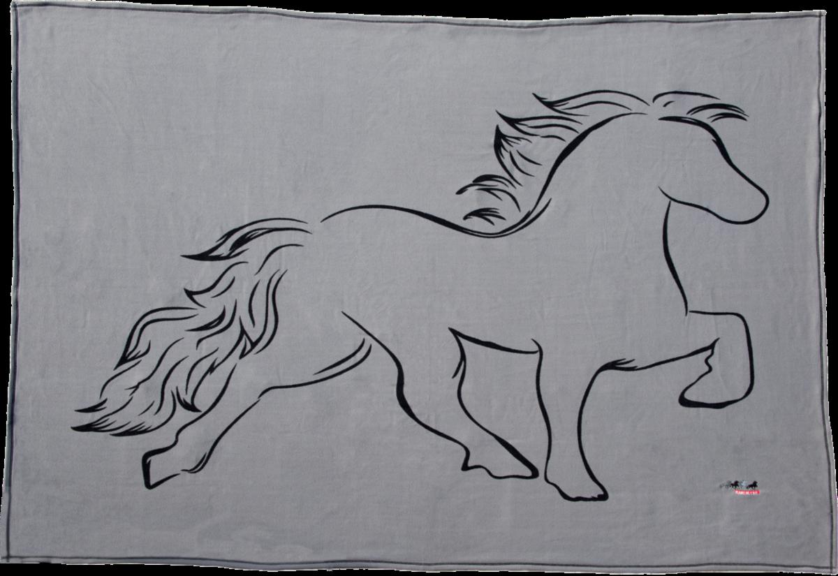 Karlslund Fleece Blanket w/Horse