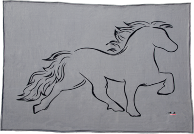 Karlslund Fleece Blanket w/Horse