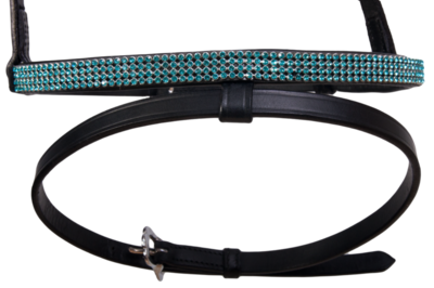 Karlslund Kombi Combination Noseband 4 Rows Crystals