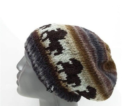 Hand Knitted Hat B51 - Icelandic Horse