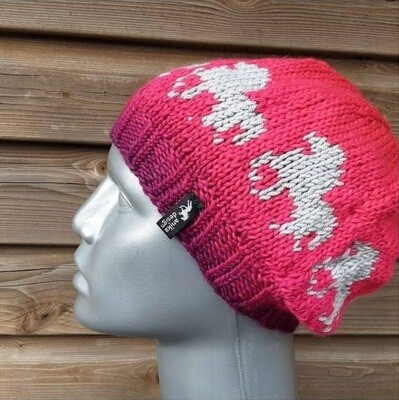 Hand Knitted Hat B30 - Icelandic Horse