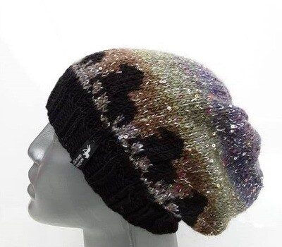 Hand Knitted Hat B53 - Icelandic Horse