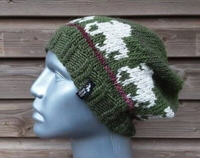 Hand Knitted Hat B50 - Icelandic Horse