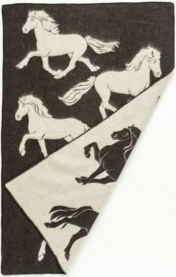 Jaquard Horse 0102 - Wool Blanket/Throw