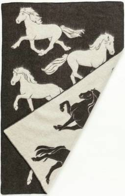 Jaquard Horse 0102 - Wool Blanket/Throw