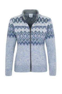 Kidka - ÞING Woman's Wool Cardigan (blue)