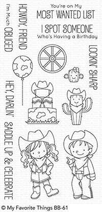 My favorite things SADDLE UP & CELEBRATE Clear Stamp Set