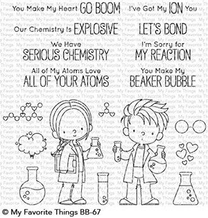 My favorite things CUTE CHEMISTS Clear Stamp Set