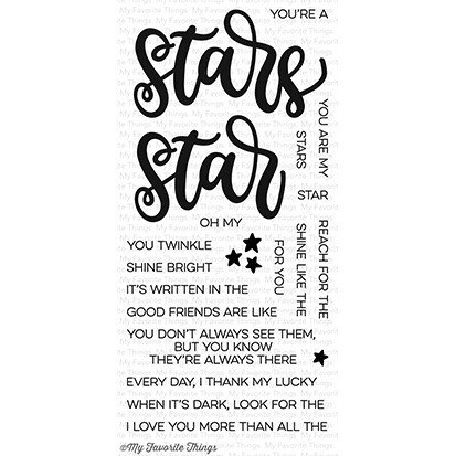 My favorite things WRITTEN IN THE STARS Clear Stamp Set