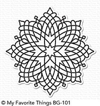 My favorite things CAPTIVITING MANDALA BACKGROUND Stamp