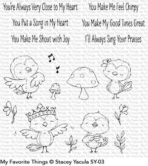 My favorite things SY TWEET FRIENDS Clear Stamp Set
