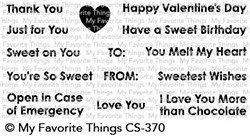 My favorite things SWEET CELEBRATIONS Clear Stamp Set