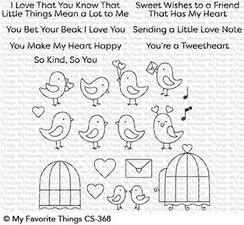 My favorite things TWEETHEARTS Clear Stamp Set